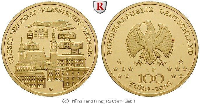 RITTER BRD, 100 Euro 2006 F, Weimar, st #coins