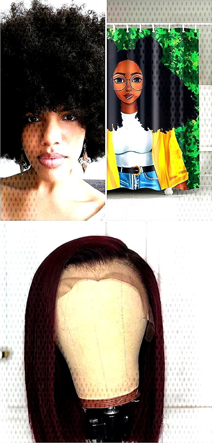 Afro Hairstyle Black Girl avec Lollipop Rideau de douche Decor de salle de bain ,