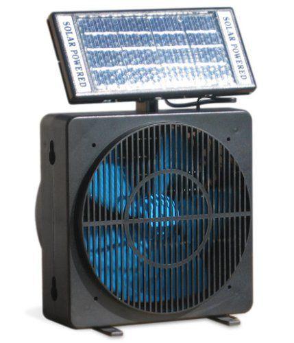 Solar Powered Window Fan Renewable Sustainable Energy