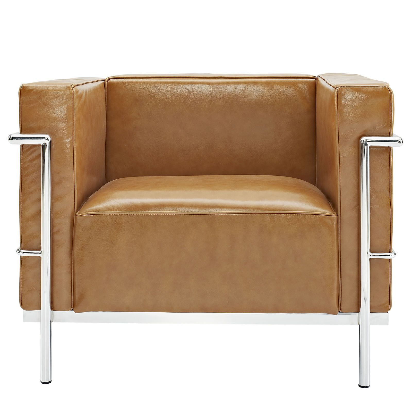 Le Corbusier Style Brown Arm Chair