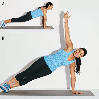 Jordin Sparks' Hot-Body Workout: Pushup to side plank!