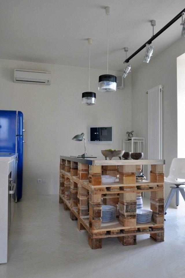 Muebles De Cocina Hechos De Obra   Reforma Tu Cocina Sin Obras Palets Propuestas Y Sencillo