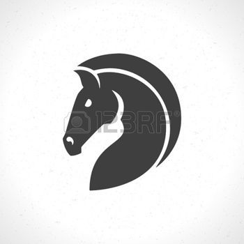 Horse Horse Face Icon Emblem Template Mascot Symbol For Business Or