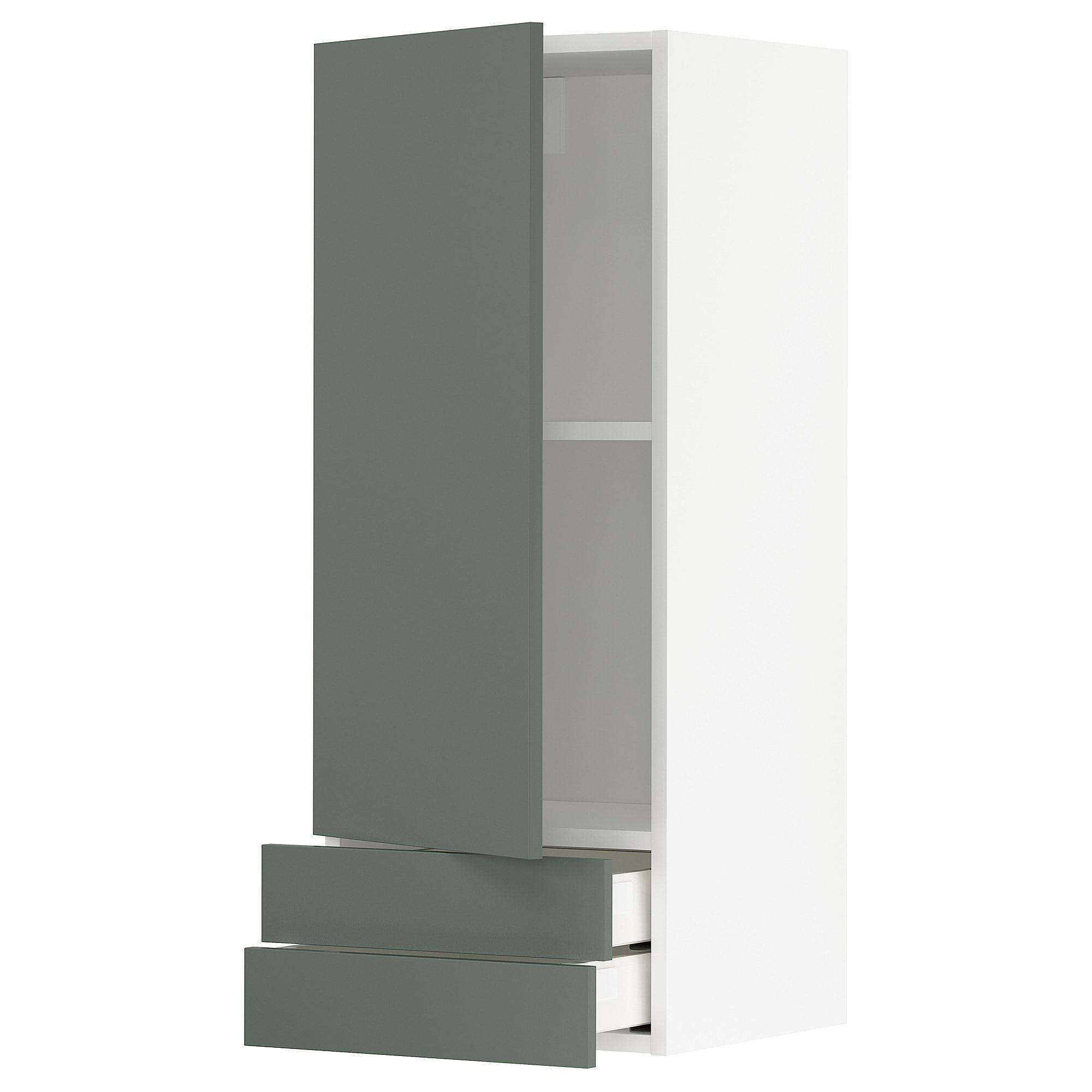 Best Metod Maximera Wall Cabinet With Door 2 Drawers White 640 x 480