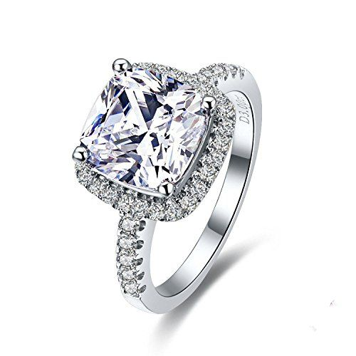 diamond rings engagement products plated evermarker platinum collections gift sivler price pair under with a for ring couple sterling synthetic lovers