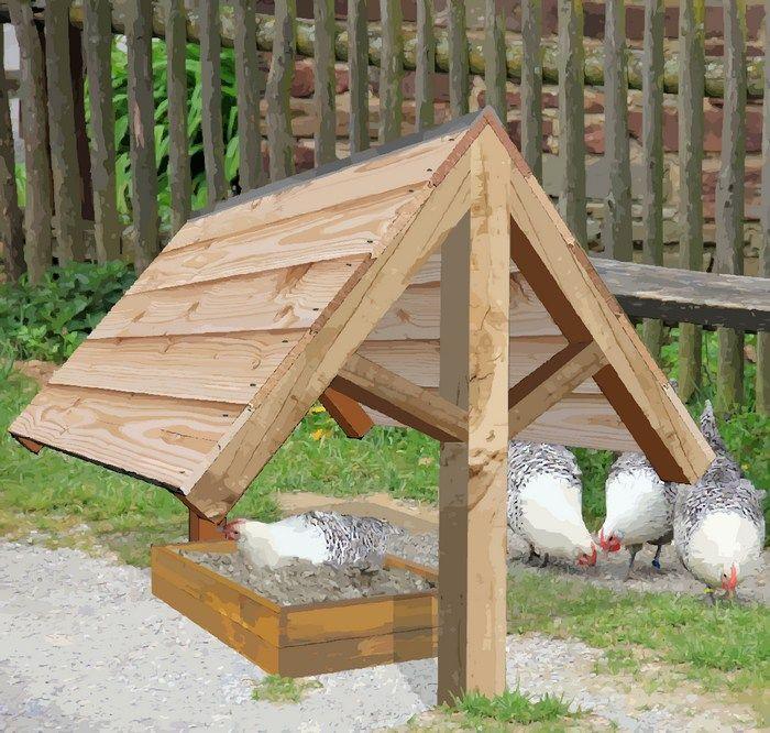 Bac Pour Bain De Poussière Pour Poules | Projet Poulailler
