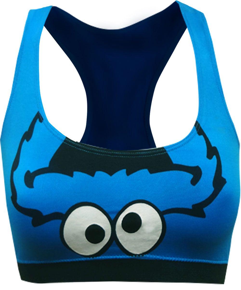 195d74474b21 WebUndies.com Sesame Street Cookie Monster Seamless Racerback Bra