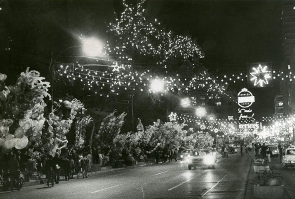 Av. Juarez, Navidad en la Ciudad de México  1967