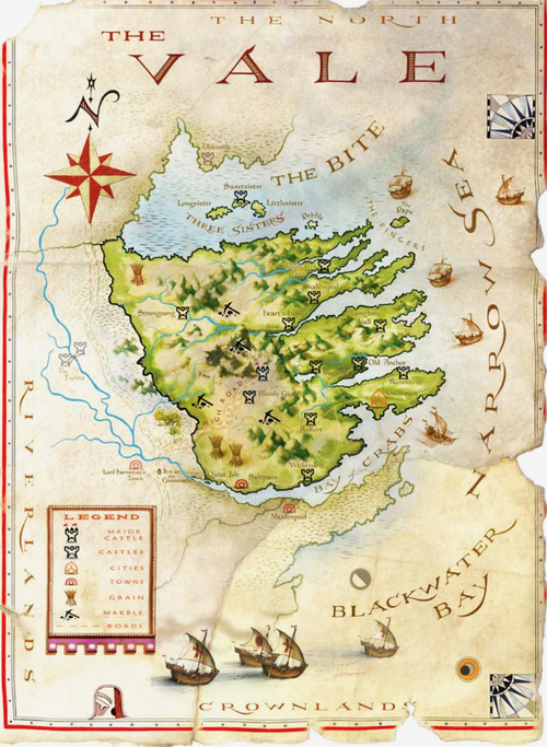 The World Of Ice And Fire Map Of The Vale Twoiaf Artist Michael