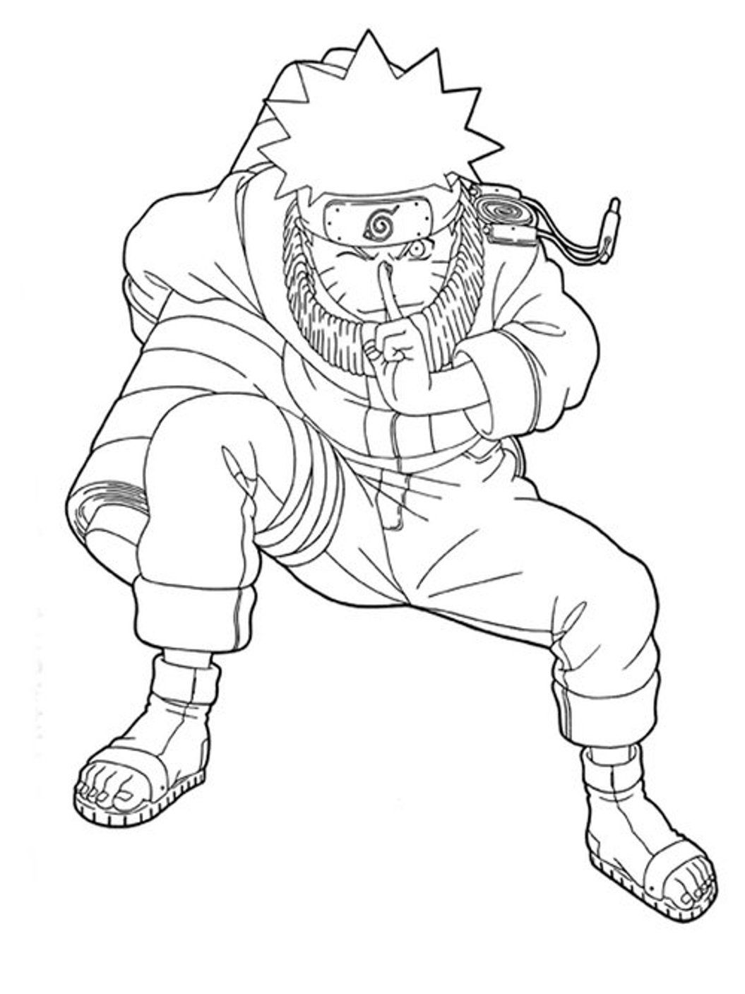 Naruto holds rolls coloring pages for kids g6n