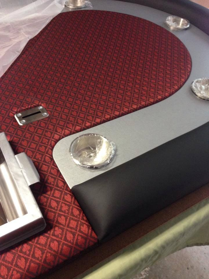 Another Custom Poker Table Going Out The Door Trump Card Speed Cloth,  Hammered Metal