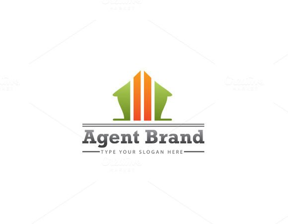 Agent Brand Logo Template by Dueza.Com on @creativemarket
