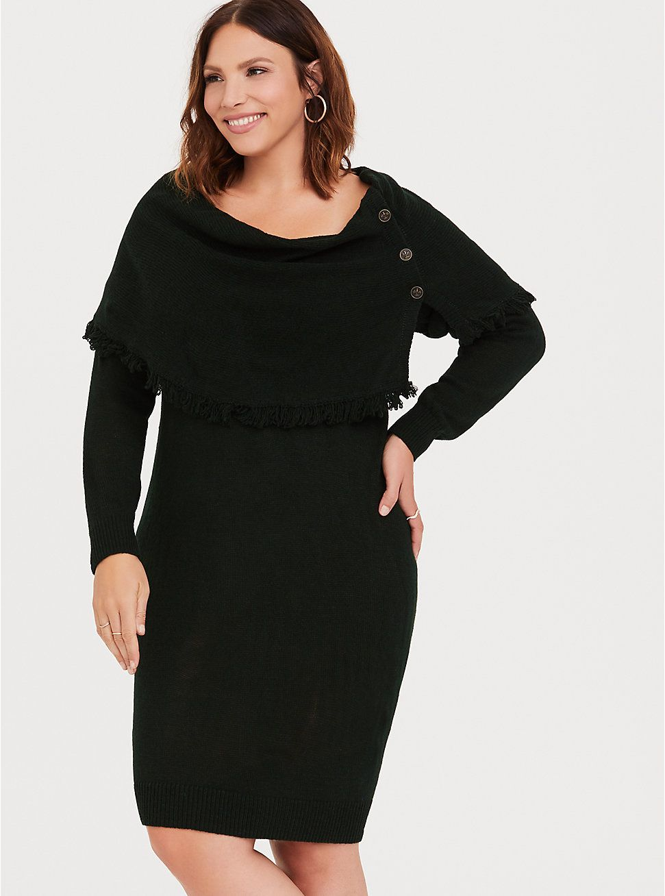 a231992b96 Plus Size Outlander Forest Green Sweater Dress