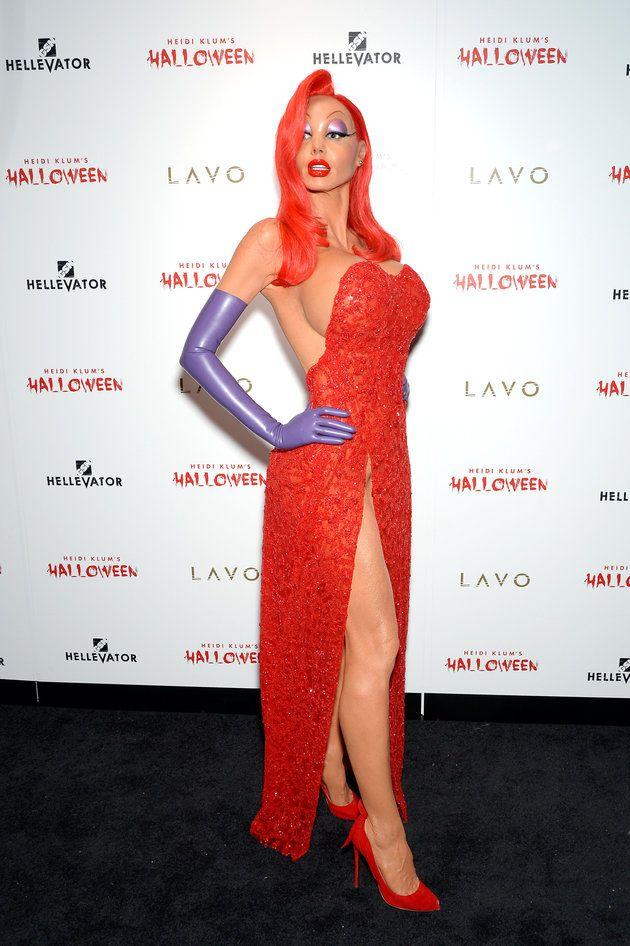 a9ae4c54e91c Heidi Klum's Halloween costume is actually incredible Celebrity Halloween  Costumes, Jessica Rabbit, Heidi Klum