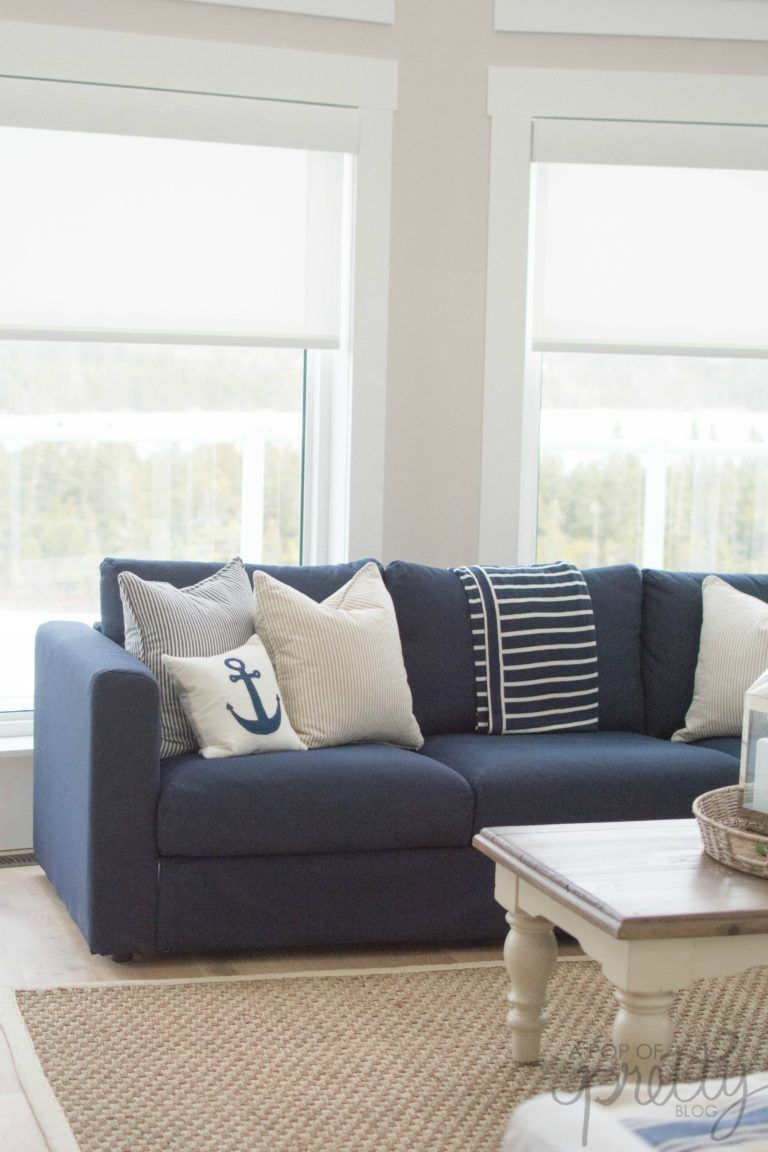 Ikea Vimle Sofa Review Finnala What To Know A Pop Of Pretty Ikea Vimle Sofa Sofa Decor Blue Couch Living Room
