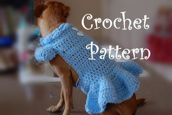 Crochet Pet Sweaters Free Patterns Crocheting Lucy Dog Sweater