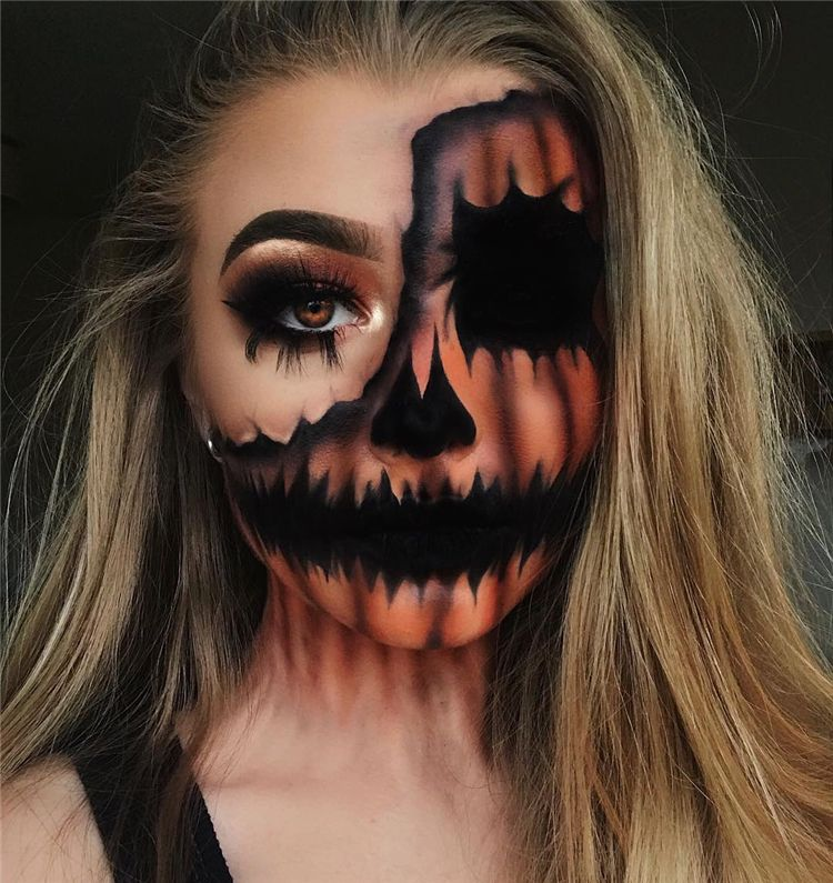 50 Scary Halloween Makeup Looks You Should Try This Year - Page 36 of 50 #pumkinpaintideas
