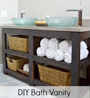 diy open shelf vanity. DIY Open Shelf Vanity With Free Plans  shelves Vanities and