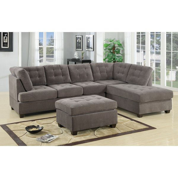 Bobkona Medora Reversible Chaise Sectional  sc 1 st  Pinterest : shop sectional sofas - Sectionals, Sofas & Couches
