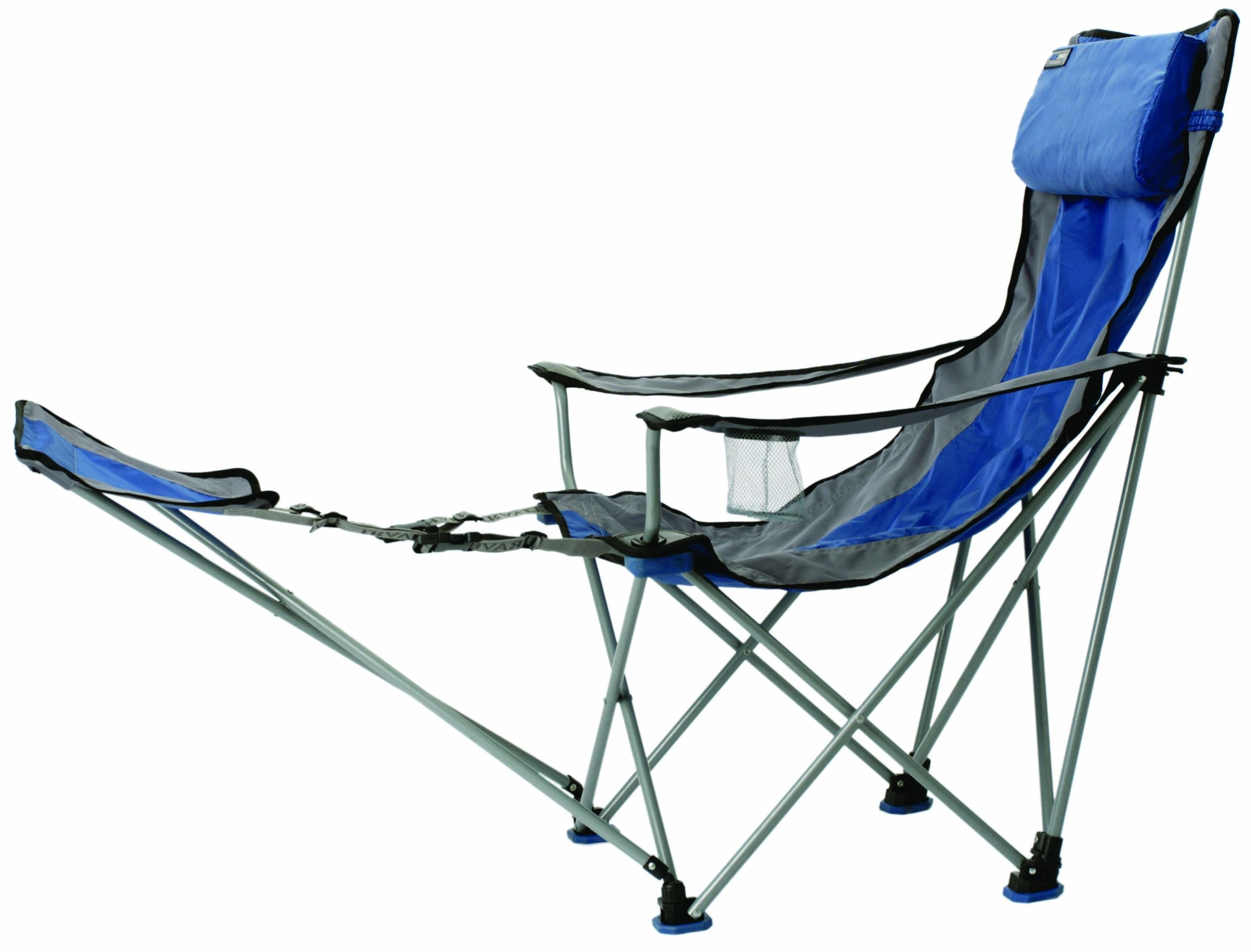Ed Bauer Folding Chair With Footrest