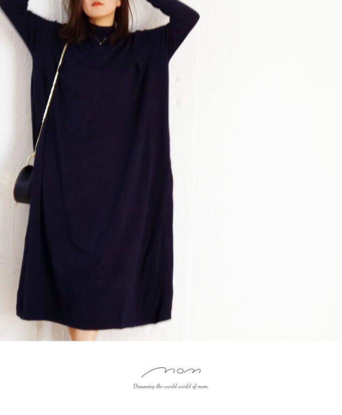 【楽天市場】♪♪【再入荷♪3月10日 22時より】(ネイビー)たっぷり生地感の大人リラックスワンピース12/6新作:Style for mom