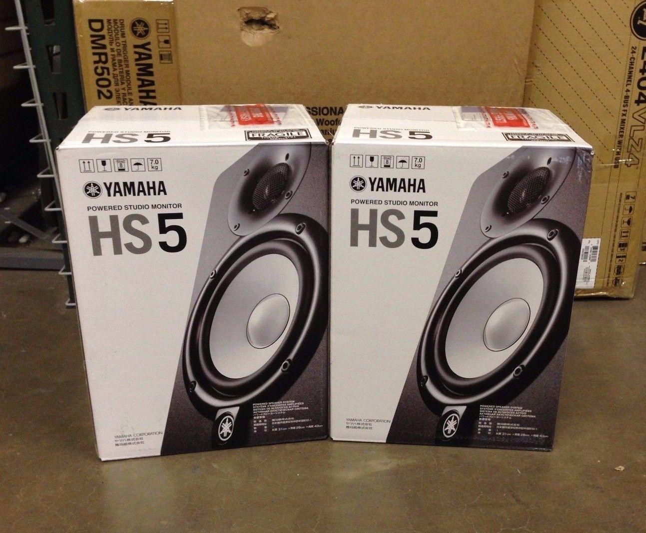 Yamaha Hs5 Powered Studio Monitor Pair 5 2 Way 70w Free Shipping