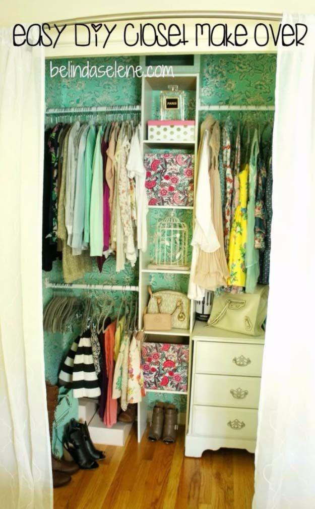 31 Closet Organizing Hacks And Organization Ideas Closet Organization Diy Bedroom Organization Closet Homemade Closet