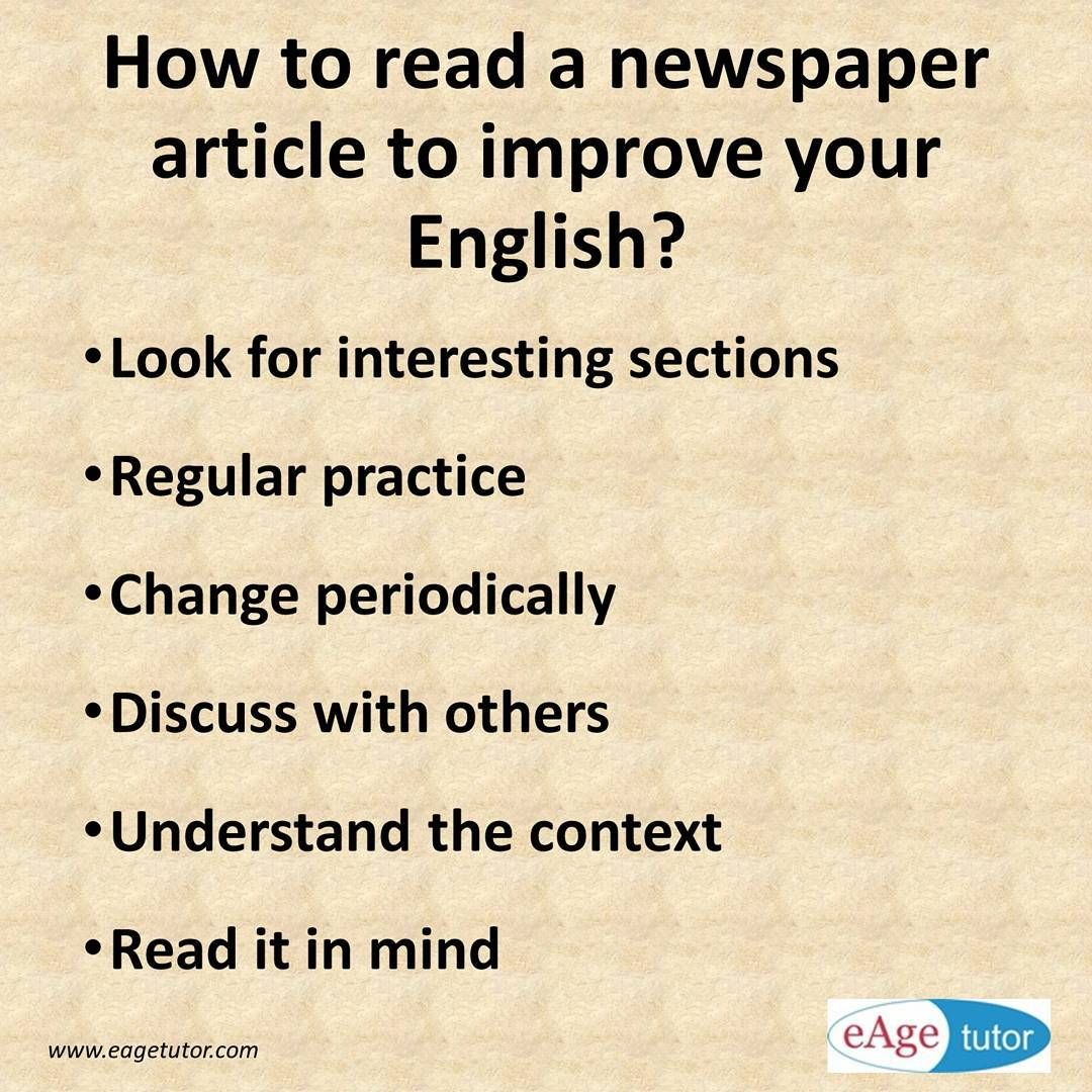 Reading A Newspaper Is One Of The Most Stressed Upon