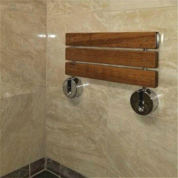 20 Modern Solid Teak Wood Folding Shower Seat Bench Etsy Shower Seat Shower Remodel Shower Bench
