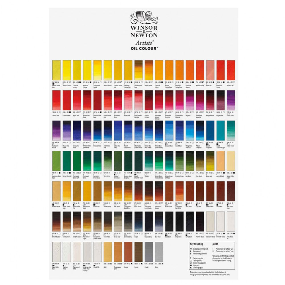 Renzo Piano Nato A winson & newton watercolor chart | carta de colores, colores