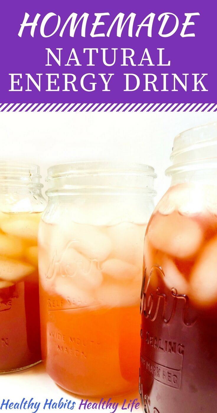 How To Make Natural Energy Drinks Homemade Electrolyte Drink Recipes All In One It S Easy H Natural Energy Drinks Healthy Energy Drinks Energy Drink Recipe