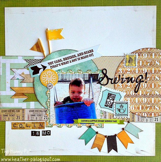 Swing Scrapbook Com Kids Scrapbook Baby Scrapbook Pages Scrapbooking Layouts Baby