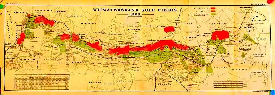 Witwatersrand Goldfields Map via James Finley | Fav Pictures