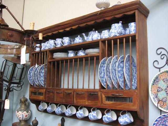 Plateros de madera clasicos ideas para el hogar for Muebles antiguos de cocina de madera