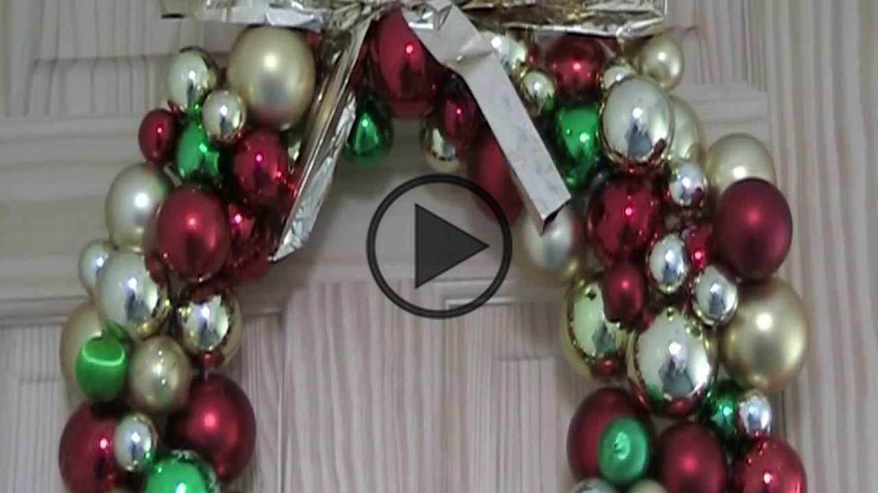 Bauble Wreath | DIY | Recycle #baublewreath Bauble Wreath | DIY | Recycle #baublewreath Bauble