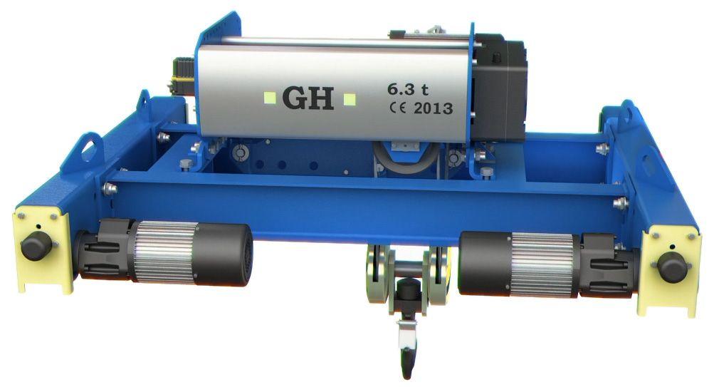 Nuevo modelo de polipasto birraíl con testeros GHB11, fabricado por GH Cranes & Components.