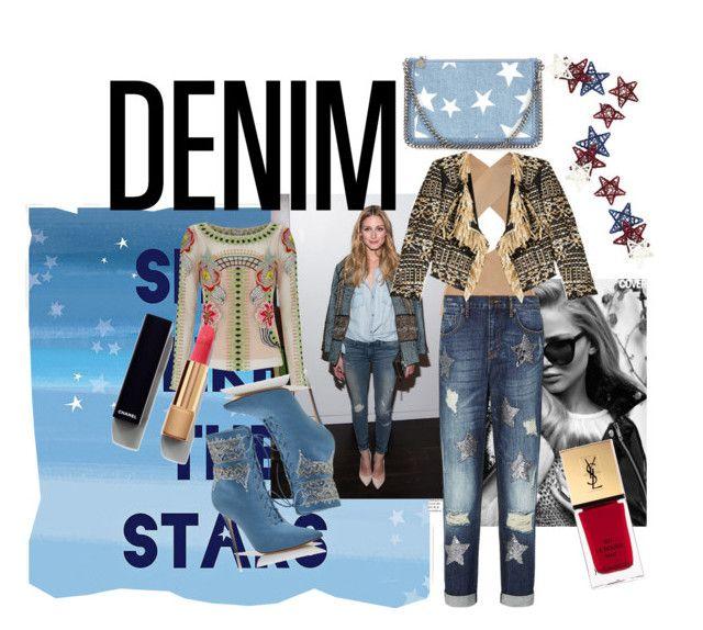"""shine like the stars"" by lexiitaly ❤ liked on Polyvore featuring Green Leaf Art, Balmain, sass & bide, Temperley London, Manolo Blahnik, Donna Karan, Chanel, Yves Saint Laurent, Pier 1 Imports and STELLA McCARTNEY"