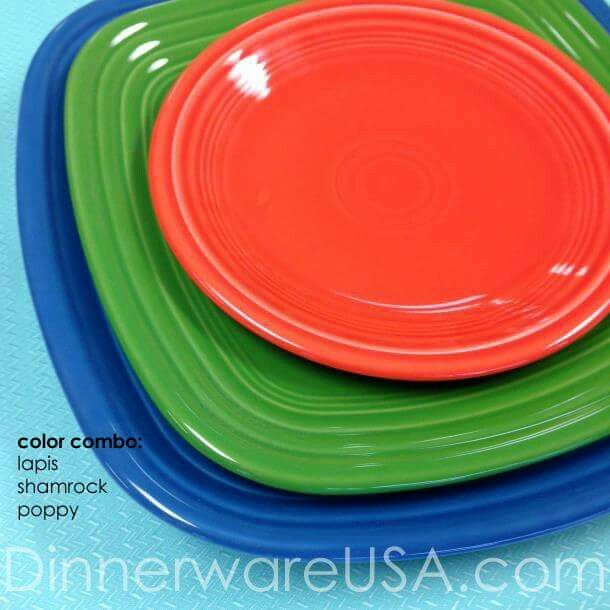 Square Fiesta® plates mixed with round | DinnerwareUSA Facebook & Square Fiesta® plates mixed with round | DinnerwareUSA Facebook ...