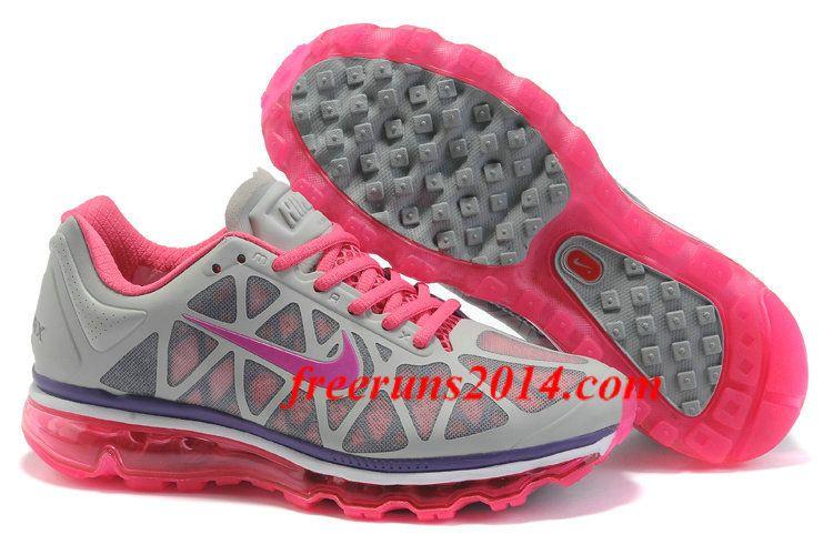 wholesale dealer 6ac20 78137 Womens Nike Air Max 2011 Grey Purple Pink Sneakers