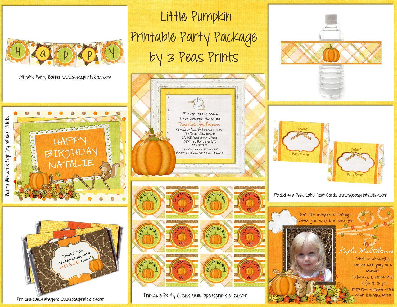 Cute Pumpkin Printables