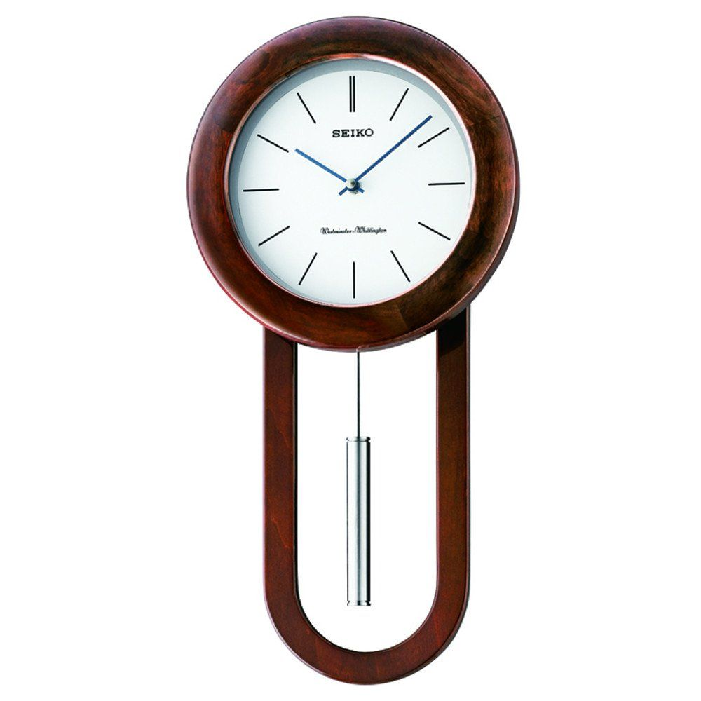 Pendulum wall clocks wooden pendulum wall clock dual for Dual time wall clock
