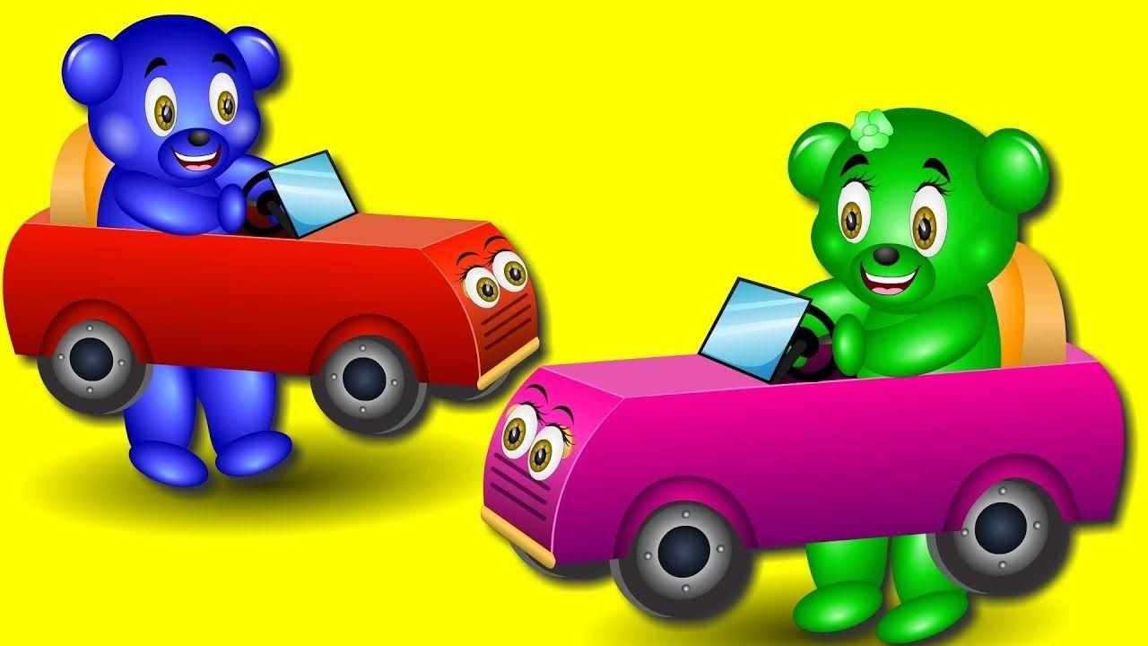 Little car toys  Gummy Bear Little Baby racing toy car Finger Family