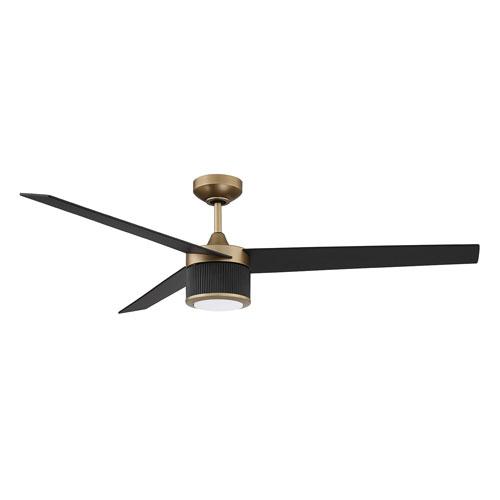 Kendal Triton Oilcan Brass Black Led Ceiling Fan With Blades Bellacor Black Ceiling Fan Led Ceiling Fan Ceiling Fan