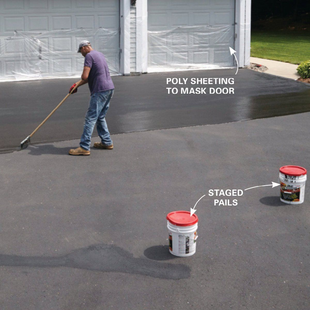 How to Seal an Asphalt Driveway | My upcoming projects