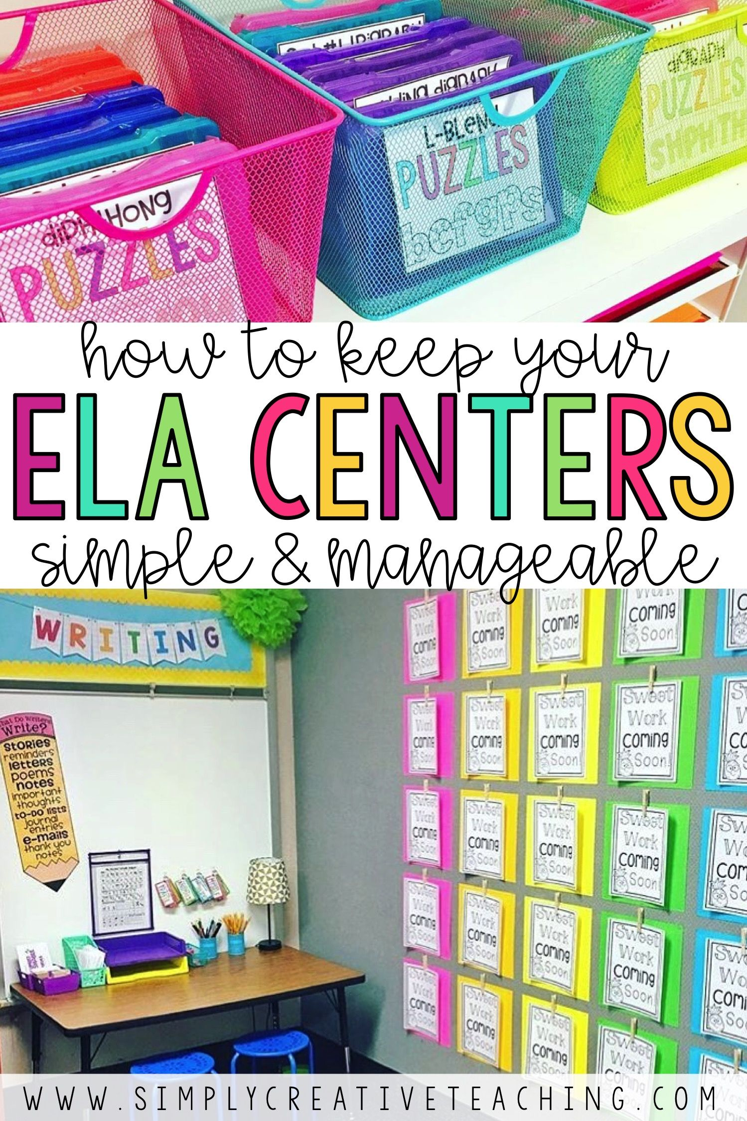 Setting Up Your Reading Centers Simply Creative Teaching Kindergarten Reading Centers Literacy Centers Kindergarten Teacher Planning Reading center ideas for grade