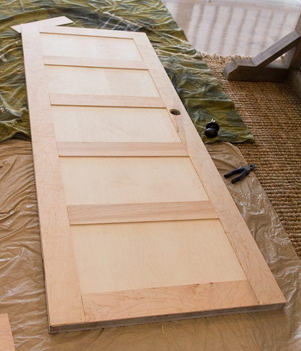 Update Kitchen Cabinet Doors: 5 Panel Door From A Flat Hollow Core Door