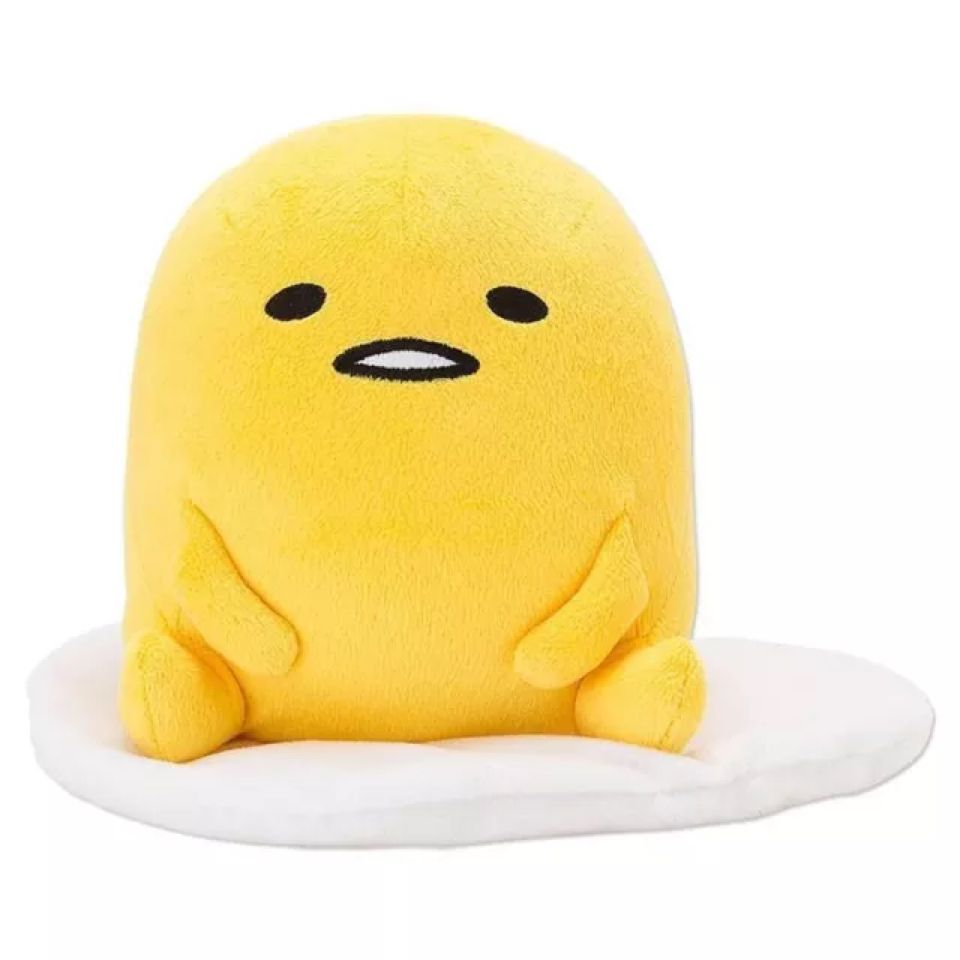 Japanese Plush Toys : Gudetama egg plush toy sitting ver stuffed doll cute