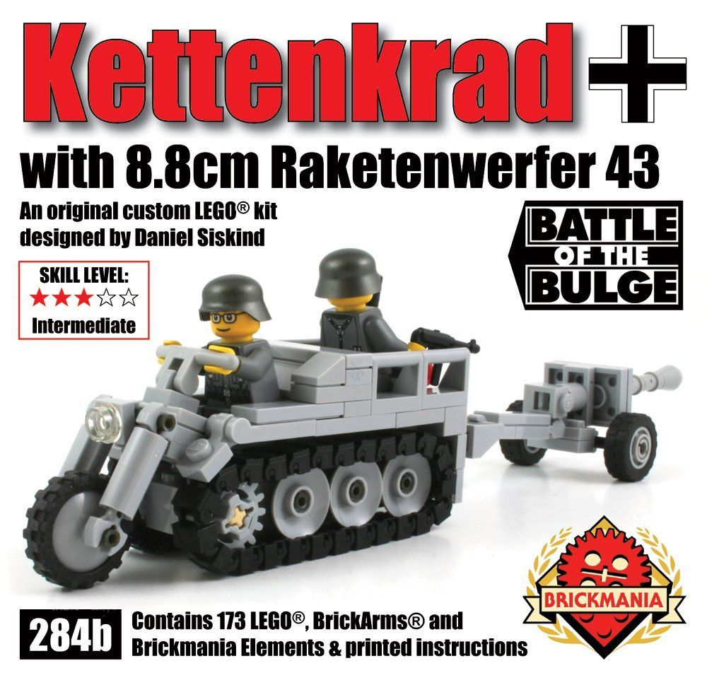 Amazon com: Brickmania Kettenkrad with 8 8cm Raketenwerfer - Custom