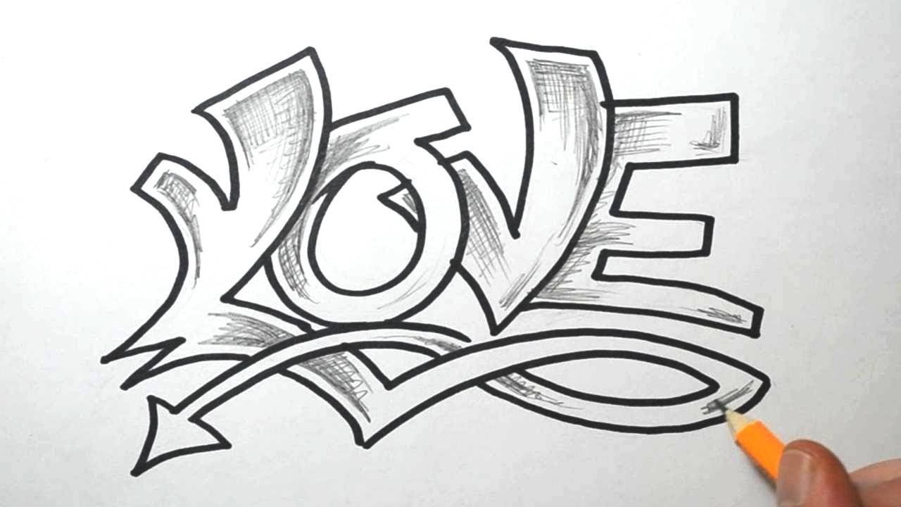 Sketching The Word Love In A Semi Wild Graffiti Style Description