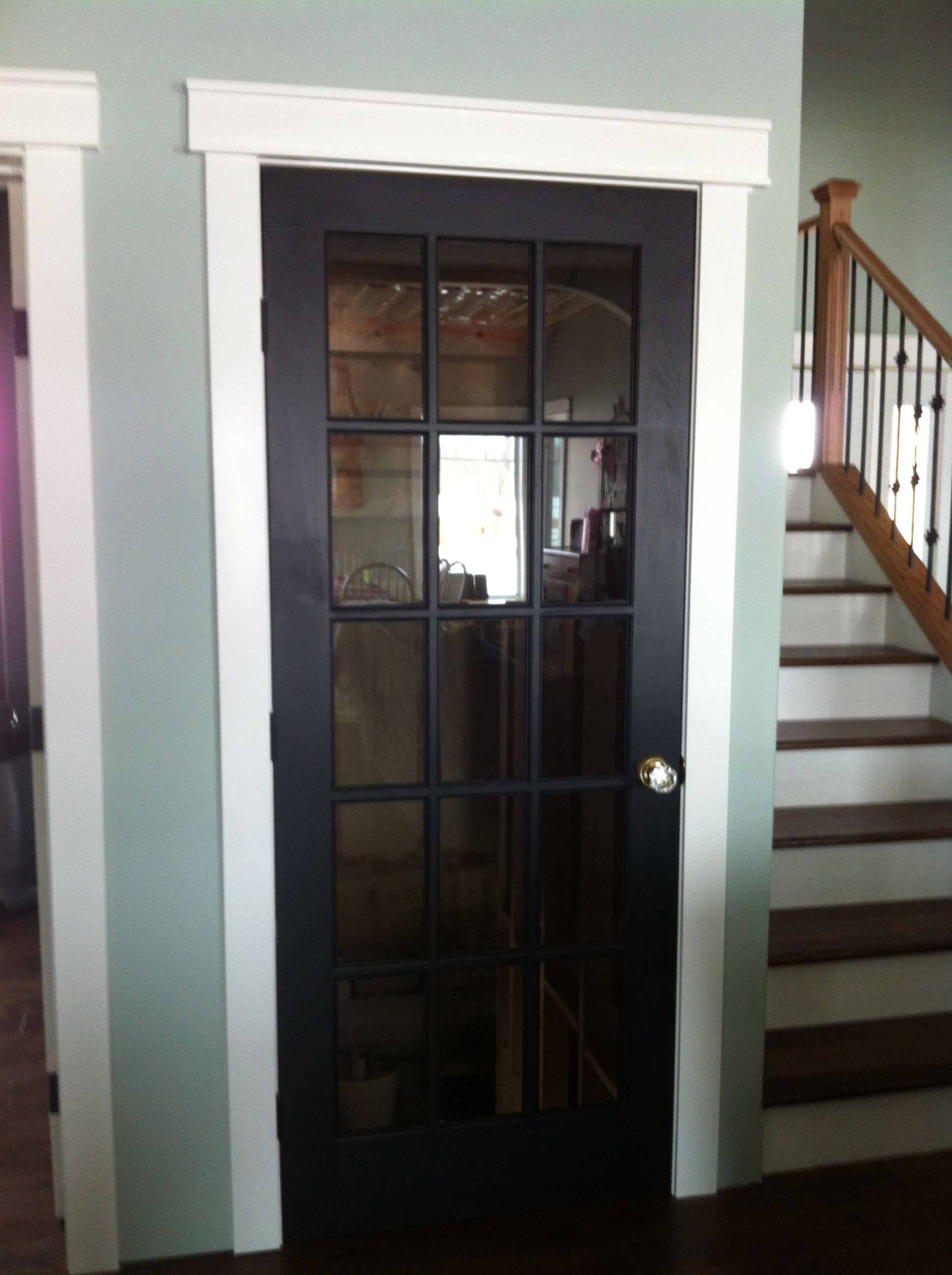 Basement door my special touch a glass door knob my for Basement door ideas